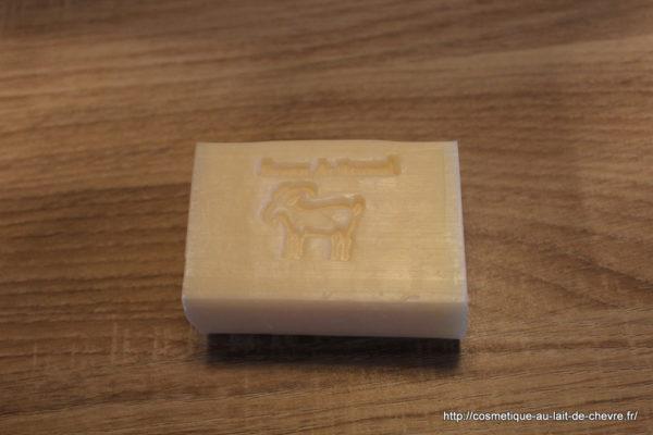 savon lait de chèvre musc blanc