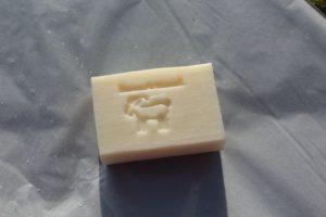 savon lait de chevre fleur de coton